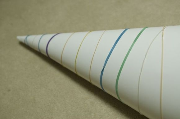 Cone-with-rubberbands